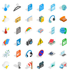 app icons set isometric style vector image vector image