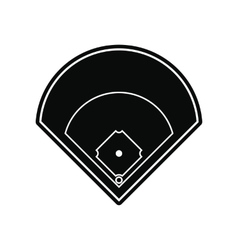 Baseball field black simple icon vector