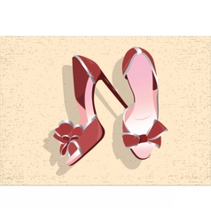 Beautiful red shinning shoes vector