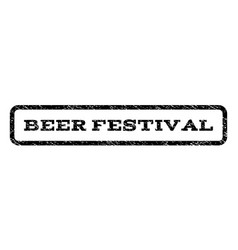 beer festival watermark stamp vector image