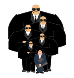 bodyguard services and businessman with suitcase vector image vector image