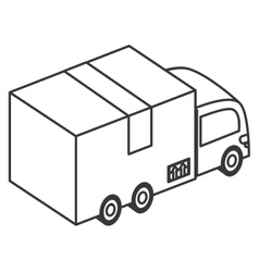 Box truck icon vector