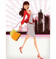 city girl vector image vector image