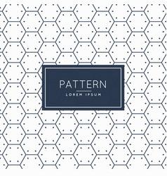 Clean hexagonal shape pattern background vector