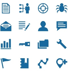 Collection of icons for design vector image vector image