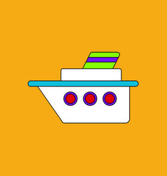 Flat icon design collection ship silhouette vector