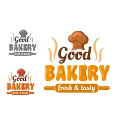 Fresh and tasty bakery emblem vector image vector image