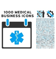 Life star calendar day icon with 1000 medical vector