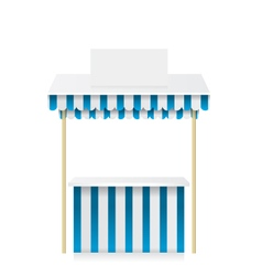 Market stall shop vector