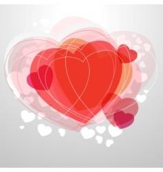 modern heart vector image