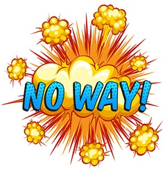 No way vector image