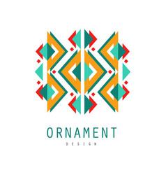 ornament logo design template for label ornate vector image vector image