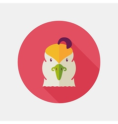 Quail flat icon Animal head symbol vector image