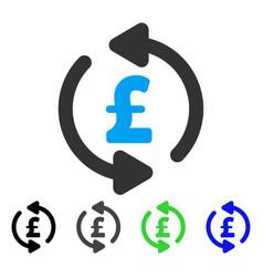 Refresh pound price flat icon vector