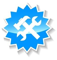 Repair blue icon vector image vector image