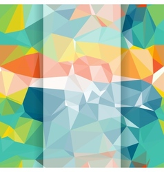 Seamless abstract geometric pattern with triangles vector image vector image