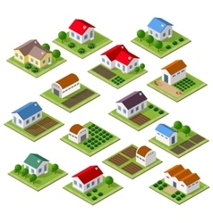 Set of townhouses vector