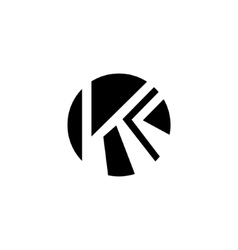 Sign of the letter K and C vector image