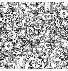 steampunk seamless pattern vector image