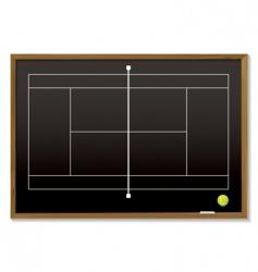 tennis court blackboard vector image vector image