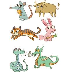 The twelve chinese zodiac cutie cartoon vector image vector image