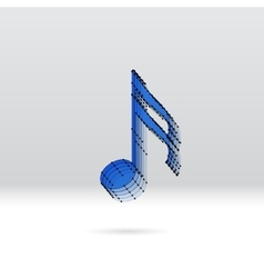 Transparent music note with dotted scheme vector image vector image