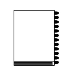 wired closed notebook icon image vector image vector image