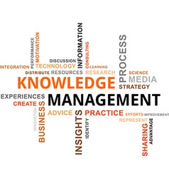 word cloud knowledge management vector image