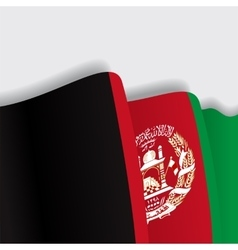 Afghanistan waving flag vector