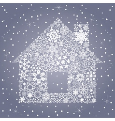 Snowflake the house vector