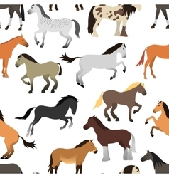 Horse isolated seamless pattern vector