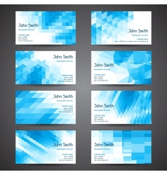 Business cards set with abstract geometric vector