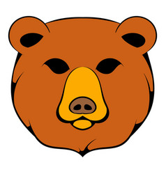 Head of bear icon cartoon vector