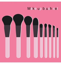 Make up brushes set vector
