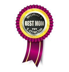 Best mom medal vector