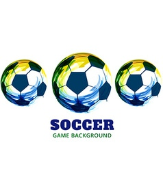 Creative soccer design vector
