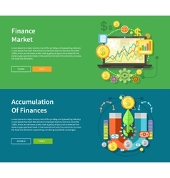 Finance market and accumulation of finances vector