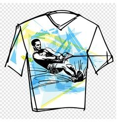 Sport tee vector image