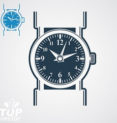 Classic wristwatch elegant detailed quartz vector