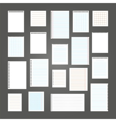 Collection of various note papers for your message vector