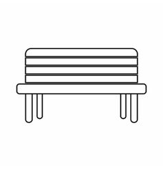 Street bench icon outline style vector