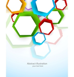 Background with colorful hexagons vector image