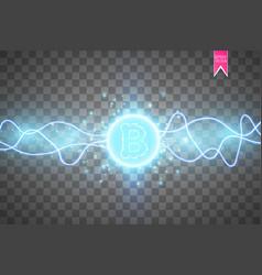 Bitcoin mining conceptual digital vector