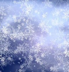 Christmas blue frost background vector image vector image