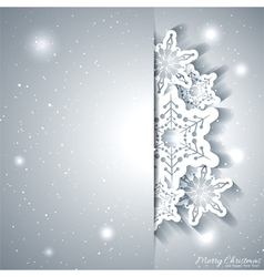 Christmas Snowflake Greeting Card vector image vector image