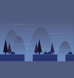 Collection scenery with spruce for game background vector