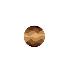 Isolated abstract brown color round shape logo on vector