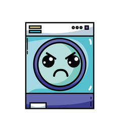 Kawaii cute angry washing machine vector