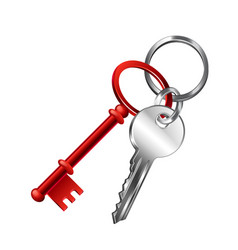 keychain isolated on white vector image vector image