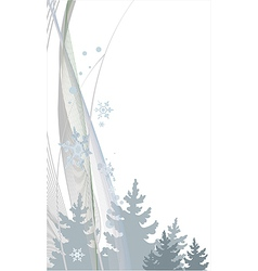 New Year background with Christmas trees and vector image